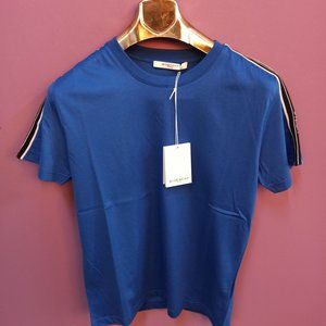 Givenchy Paris Blue Color Logo T-Shirt